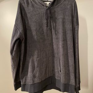 AEO Velour hooded sweatshirt